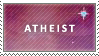 atheist stamp by Fjording