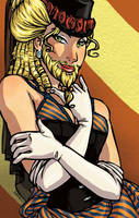 Sideshow Girls - The Bearded Lady by tinkerbelcky