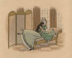Rococo Dachshund by tinkerbelcky