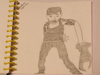 Ricky Martin cd cover drawing by DisneyPrincessNeeNee