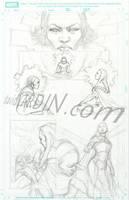 X-Men MD - Karma p1 Pencils by davidyardin