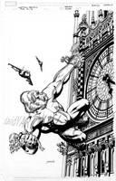 Captain Britain Variant Cover by davidyardin
