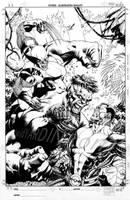 X-Men vs Hulk 1 Cover Lineart by davidyardin