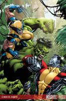 X-Men vs Hulk 1 Cover Colour by davidyardin