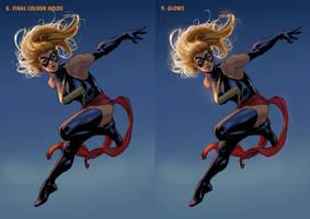 Ms Marvel Steps 8 + 9 by davidyardin
