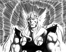 Thor Inked Sketch by davidyardin