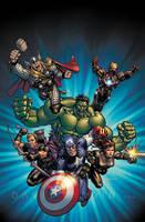 Custom Designed Avengers Movie Poster by davidyardin