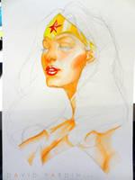 Wonder Woman Watercolour Step 3 by davidyardin