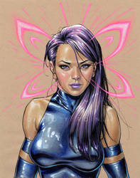 Psylocke by davidyardin