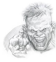 Morning Warmup Sketch - Hulk by davidyardin