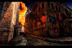 Glow on Grunge Street by ToysoldierThor