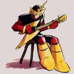 Elec Man guitar by SessK0