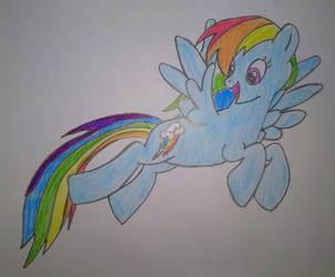 Rainbow Dash by CaldoRosa