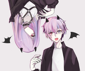 devil twins by sateencat
