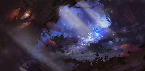 Ori and the Blind Forest   fanart by ninePixels