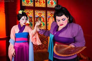 Disney - Mulan - Matchmaker and Mulan by Matsu-Sotome