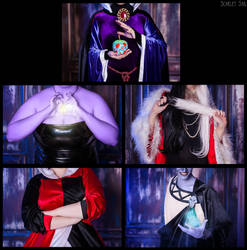 Evil Queen,Ursula,Cruella,Queen of hearts,Hades by Matsu-Sotome