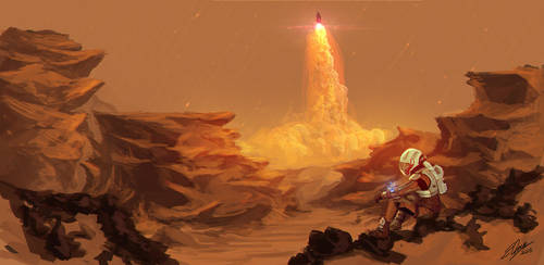 The Martian Digital Painting by KEATONdesigns