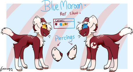 Blue Maroon Ref sheet by Finchsongg