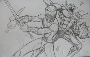 Red Ranger Vs. Putty Patrol W.I.P. by seraphimon83