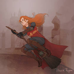 Ginny F****** Badass Weasley by paintedcastle