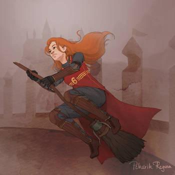 Ginny F****** Badass Weasley by paintedcastle
