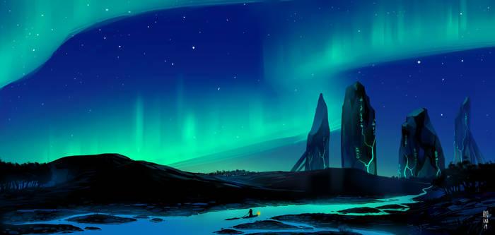 The Aurora Stones by hyokka