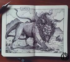 Bestiary Sketchbook: Chimera! by DK13Design