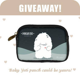 Baby Yeti Leather Pouch Giveaway by karinkhoo