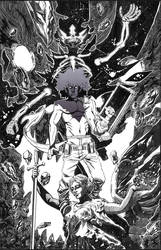 DEMON KINGS POSTER (ink on clayboard) by theCEOofDEATH