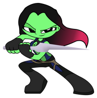 Guardians of the Galaxy - MINI Gamora by Rainheart94