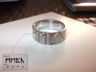 My runic ring by xMepux