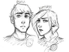 Peeta and Katniss Doodle by MexicanSushi
