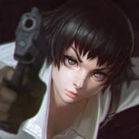 Devil May Cry 3 Lady by Kuvshinov-Ilya