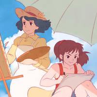 Ursula and Naoko by Kuvshinov-Ilya