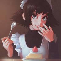 Haru's Cheesecake by Kuvshinov-Ilya