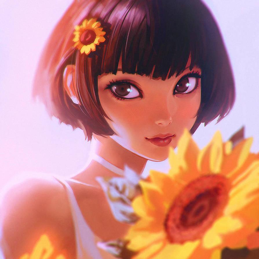 Sunflower by Kuvshinov-Ilya