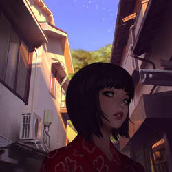 Alley by Kuvshinov-Ilya