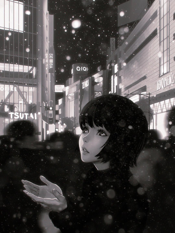 Snow by Kuvshinov-Ilya