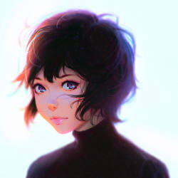 Illustration Magazine Cover by Kuvshinov-Ilya