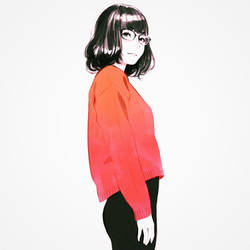 Red Sweater by Kuvshinov-Ilya