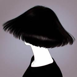 new haircut by Kuvshinov-Ilya