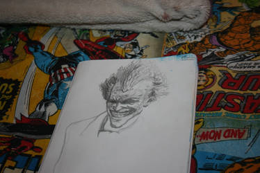 Arkham City Joker Sketch by Unorijenal