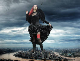 Goddess Amarie Stomping Down Chongqing by Amarie-Tinuviel