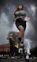 Towering Over The City (Breast expansion) by Amarie-Tinuviel