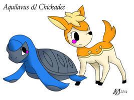 Marriland's Black Wedlocke Aquilavus and Chickadee by Domenica-chan999