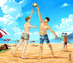 Baes at the beach by Jeannette11