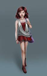 Red Mona by jojo-kusnadi