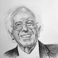 Bernie Sanders, graphite by k0nundrum