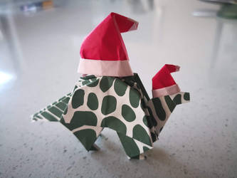 Day 25 Santasaur by Klsw